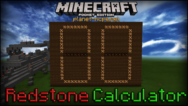Карта Redstone Calculator (Редстоун)