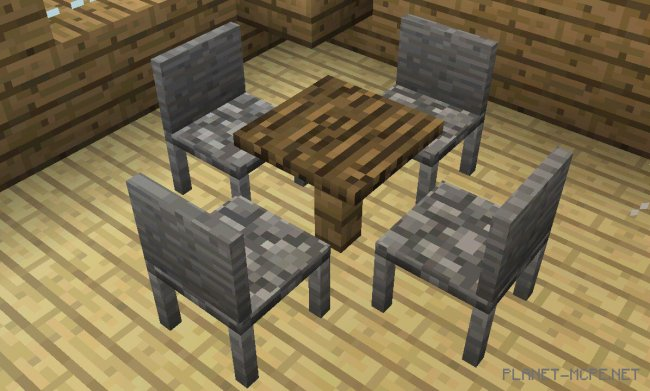 Мод MrCrayfish's Furniture 0.13.1/0.13.0