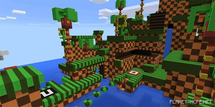 Карту Sonic The Hedgehog Для Minecraft 1.5.2