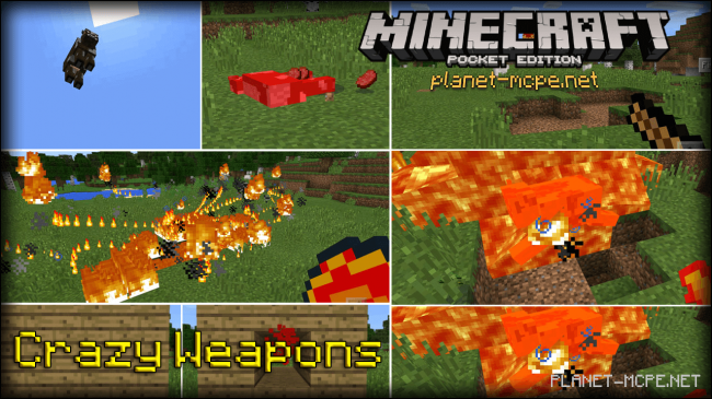Мод Crazy Weapons 0.15.6/0.15.4/0.14.3