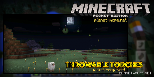 Мод Throwable Torches 0.15.3/0.14.3/0.14.2