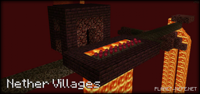 Мод Nether Villages 0.15.4/0.15.2