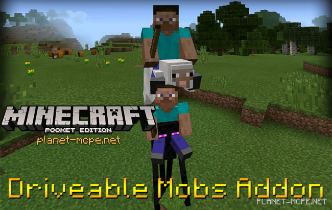Мод Driveable Mobs 0.16.0