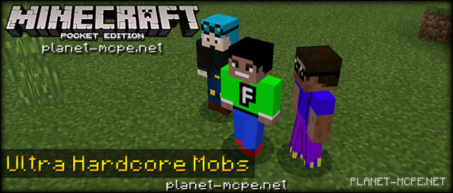 Мод Ultra Hardcore Mobs Add-on 0.16.0