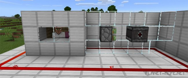 Текстур пак Clean Glass Redstone 1.0/0.17.0/0.16.1/0.16.0