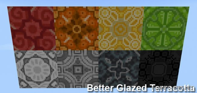 Текстуры Better Glazed Terracotta 1.2