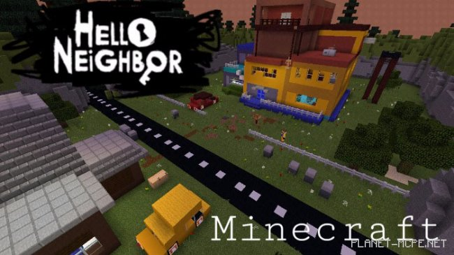 Карта Hello Neighbor In Minecraft [Мини-игра] [Головоломка]
