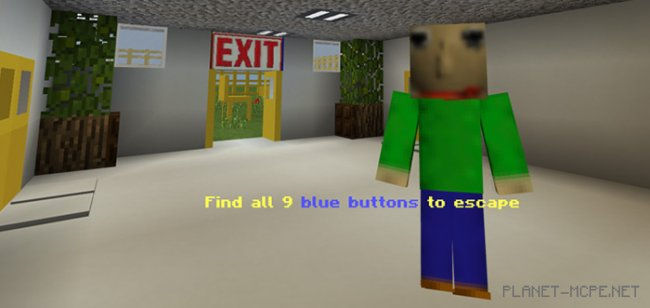 Карта Baldi's Basics in Find The Button (Хоррор) [Мини-игра]