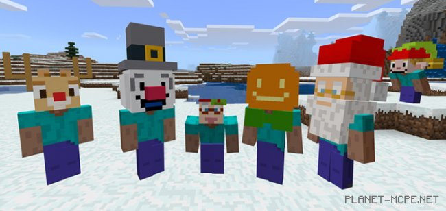 Текстуры Christmas Heads Costumes 1.7