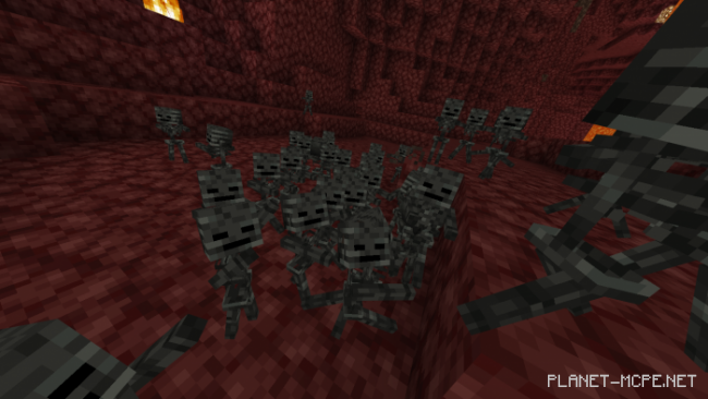 Мод Baby Wither Skeletons