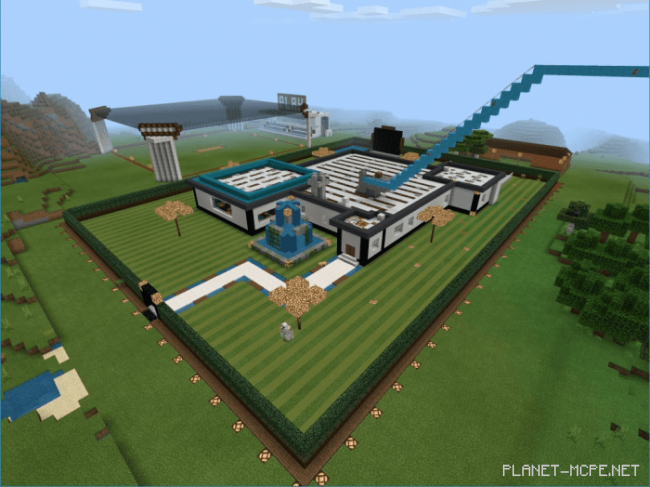 Карта Sleek N Modern Redstone Mansion